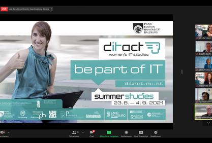 Screenshot von der Online-Eröffnung didact 2021